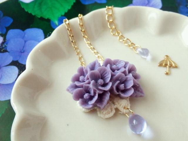 紫陽花の雨粒添えNC2-2