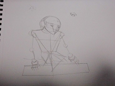下描き 今日ものんびりと 2015/01/15
