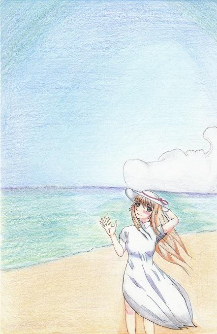 海 ペン入れ 今日ものんびりと 2015/02/13
