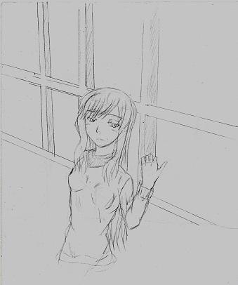 窓際の少女 今日ものんびりと 2015/02/16
