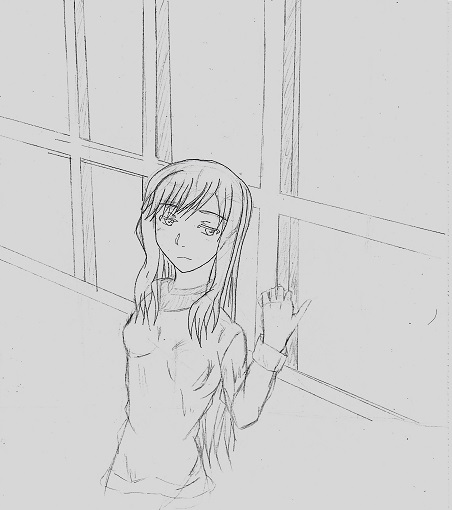 窓際の少女 今日ものんびりと 2015/02/17