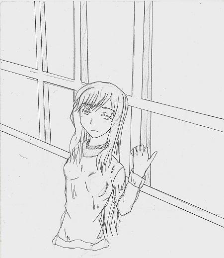 窓際の少女 今日ものんびりと 2015/02/18