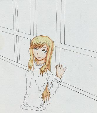 窓際の少女 今日ものんびりと 2015/02/21