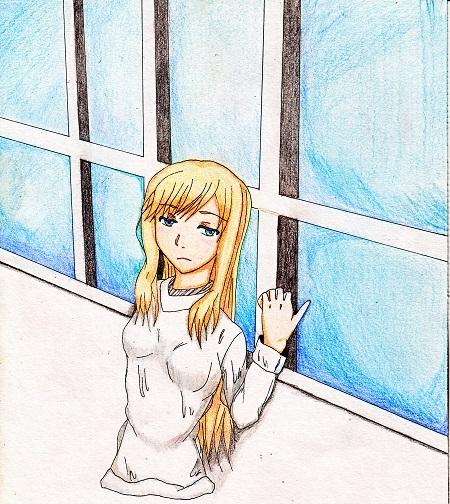 窓際の少女 今日ものんびりと 2015/03/01