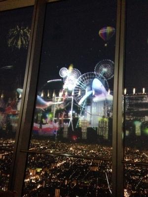 夜景3Dプロジェクトマッピング