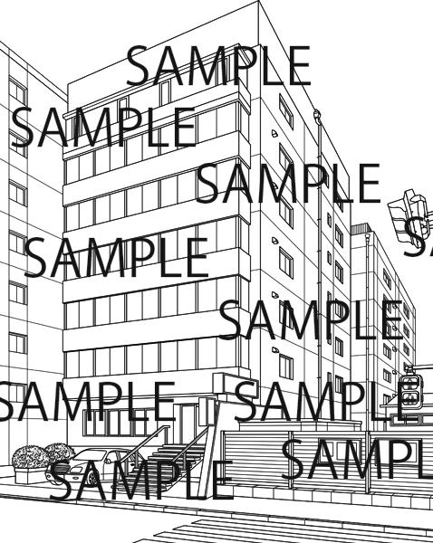 会社ビルのイラスト