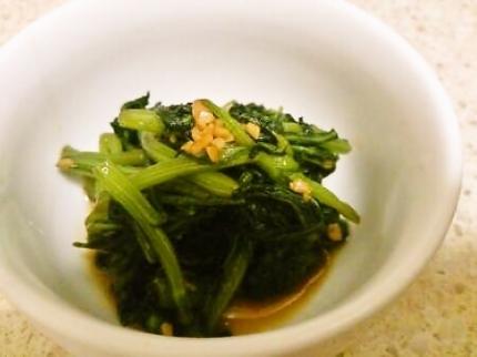 春菊の炒め物