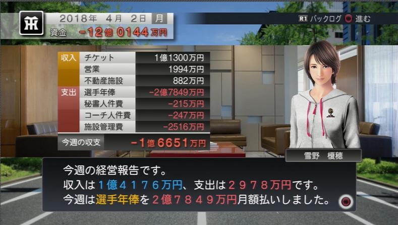 プロ野球スピリッツ2015 12億円の赤字スタート。
