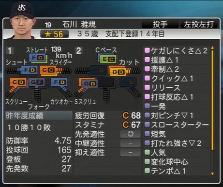 石川雅規 プロ野球スピリッツ2015