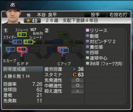 木谷良平 プロ野球スピリッツ2015