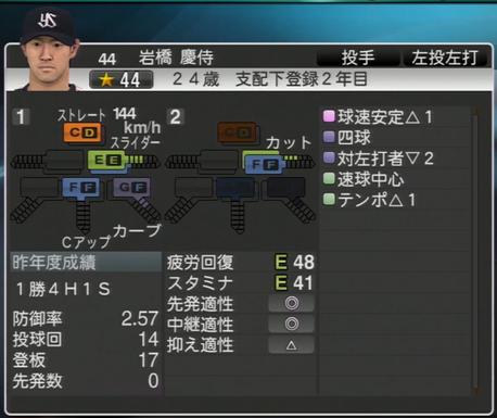 岩橋慶侍 プロ野球スピリッツ2015