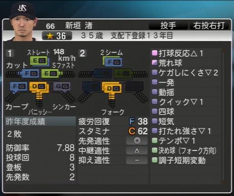 新垣渚 プロ野球スピリッツ2015