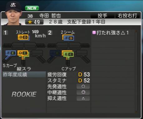 寺田哲也 プロ野球スピリッツ2015