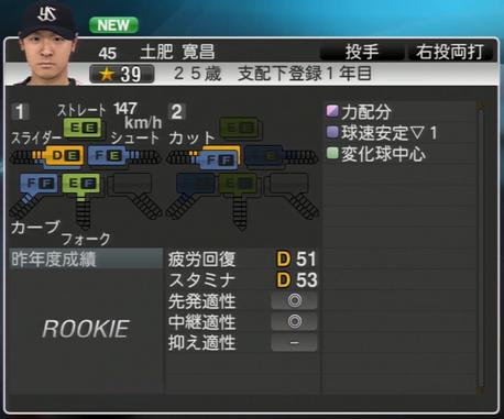 土肥寛昌 プロ野球スピリッツ2015 1.07