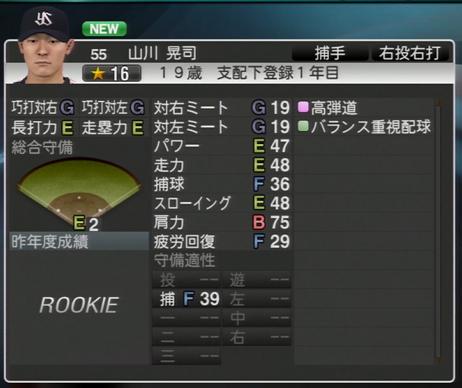 山川晃司 プロ野球スピリッツ2015 ver1.07
