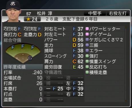 松井淳 プロ野球スピリッツ2015 ver1.07