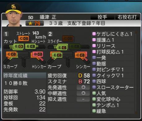 摂津正 プロ野球スピリッツ2015