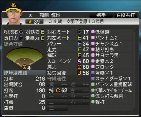 鶴岡 慎也 プロ野球スピリッツ2015
