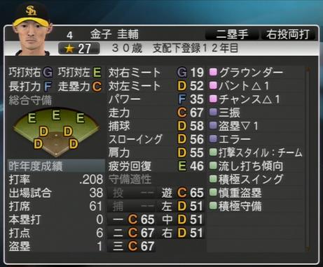 金子 圭輔 プロ野球スピリッツ2015