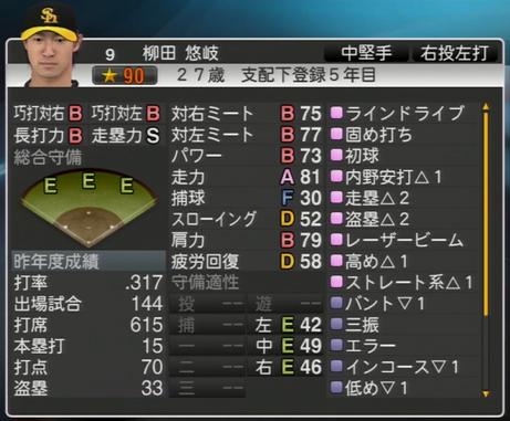 柳田 悠岐 プロ野球スピリッツ2015