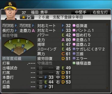 福田 秀平 プロ野球スピリッツ2015