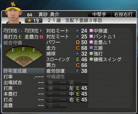 真砂 勇介 プロ野球スピリッツ2015