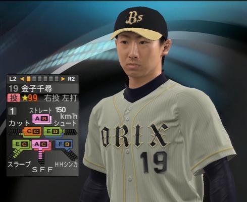 金子千尋 プロ野球スピリッツ2015