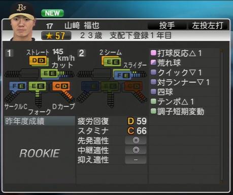 山﨑 福也 プロ野球スピリッツ2015