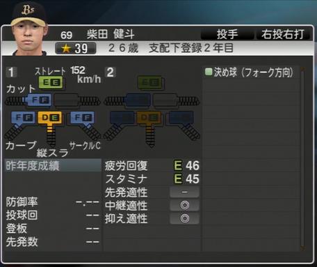 柴田 健斗 プロ野球スピリッツ2015 ver1.06