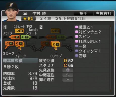 中村 勝 プロ野球スピリッツ2015