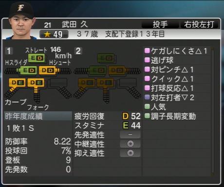 武田 久 プロ野球ス  ピリッツ2015 ver1.06