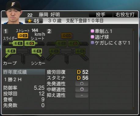 藤岡 好明 プロ野球ス  ピリッツ2015 ver1.06