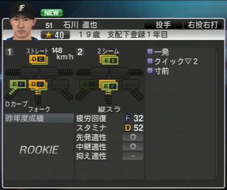 石川 直也 プロ野球ス  ピリッツ2015 ver1.06