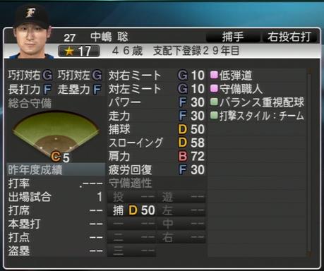 中嶋 聡 プロ野球スピリッツ2015