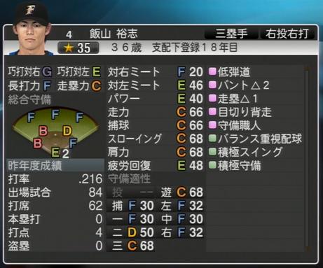 飯山 裕志 プロ野球スピリッツ2015