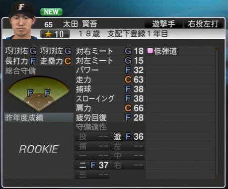 太田 賢吾 プロ野球スピリッツ2015