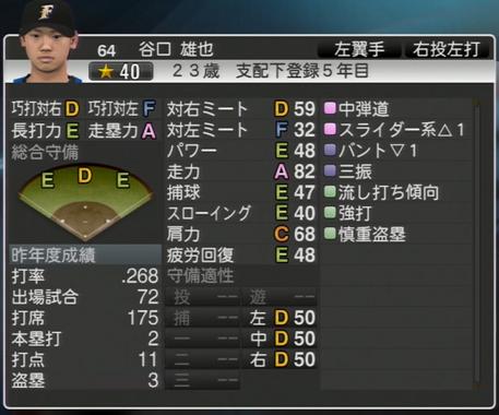 谷口 雄也 プロ野球スピリッツ2015