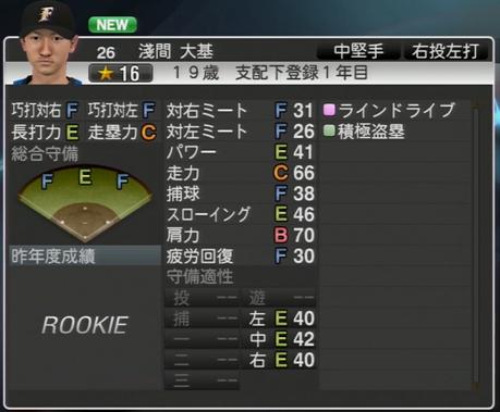 淺間 大基 プロ野球スピリッツ2015