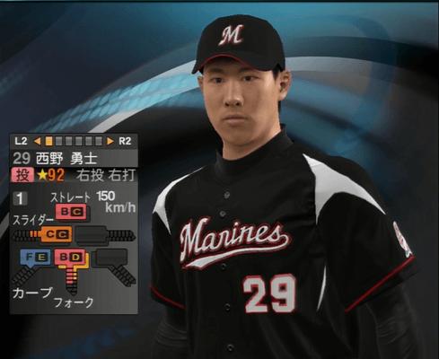 西野 勇士 プロ野球スピリッツ2015