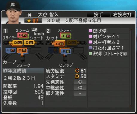 大谷 智久 プロ野球スピリッツ2015