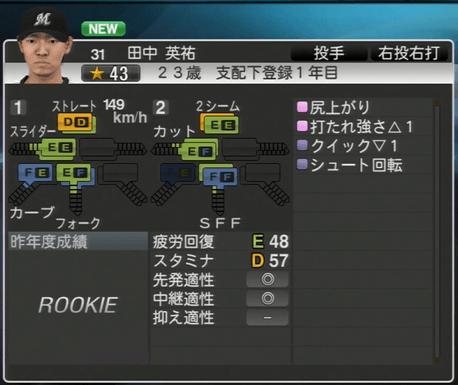 田中 英祐 プロ野球スピリッツ2015