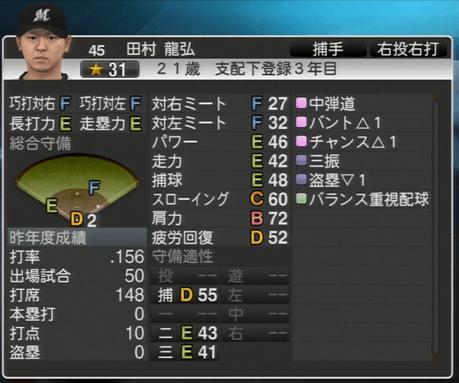 田村 龍弘 プロ野球スピリッツ2015