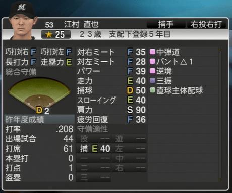江村 直也 プロ野球スピリッツ2015