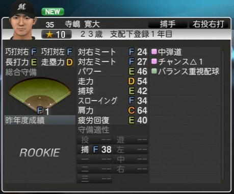 寺嶋 寛大 プロ野球スピリッツ2015 ver1.06