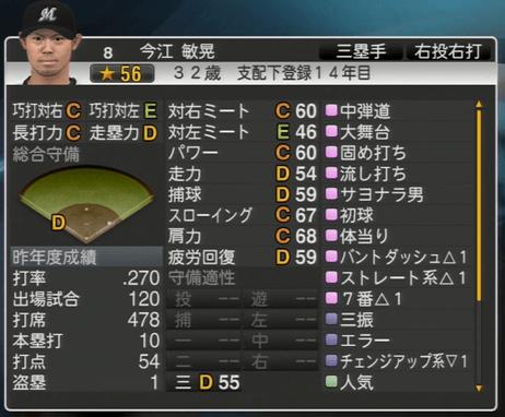 今江 敏晃 プロ野球スピリッツ2015