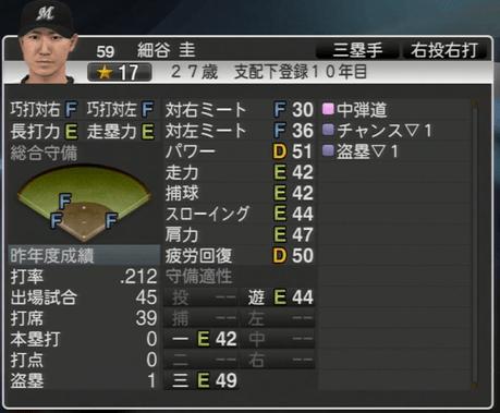細谷 圭 プロ野球スピリッツ2015