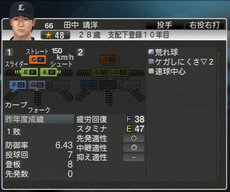 田中 靖洋 プロ野球スピリッツ2015