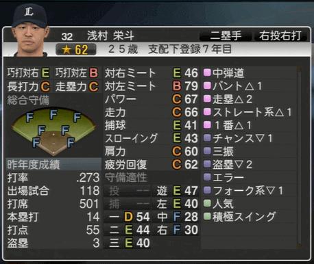 浅村 栄斗 プロ野球スピリッツ2015