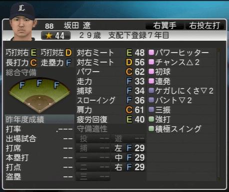 坂田 遼 プロ野球スピリッツ2015