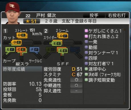 戸村 健次 プロ野球スピリッツ2015